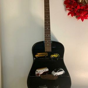 Guitar black recycled stand handmade